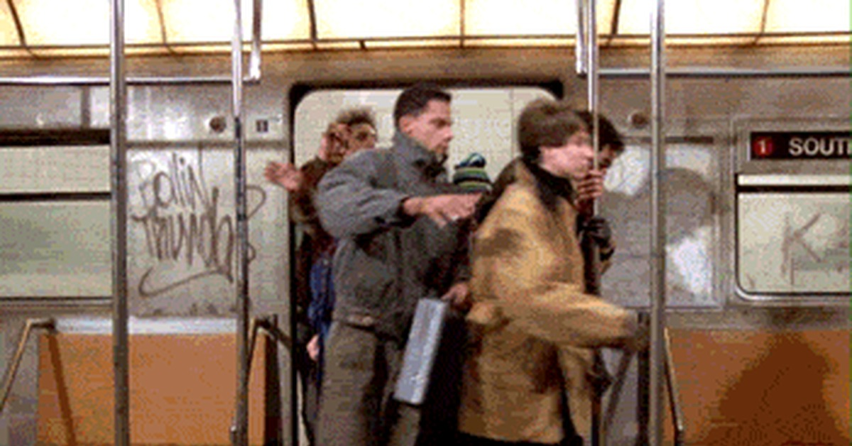 утро в метро гифка что