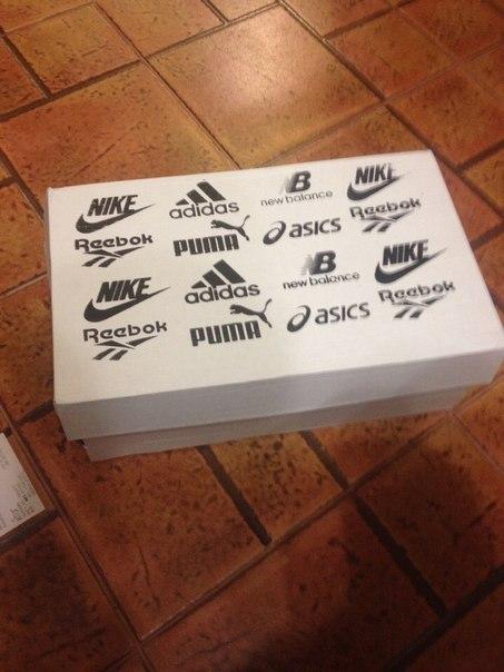 Универсальная коробка для кроссовок Китайцы, Такие китайцы, Nike, Reebok, Asics, Пума, New balance, Adidas, Длиннопост