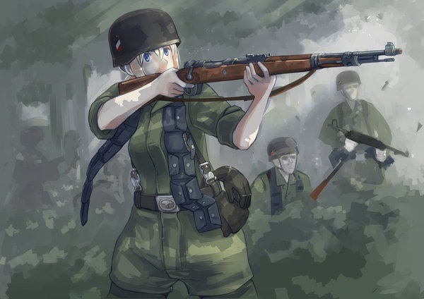 Немного альтернативной ВМВ. НЯцистская Германия. вторая мировая война, Германия, Anime Art, девушки на войне, длиннопост