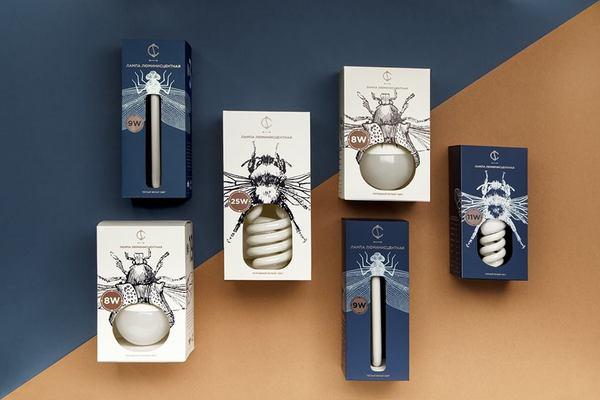 Упаковка для лампочек от белорусского дизайнера Ангелины Писчиковой упаковка, дизайн, лампочки