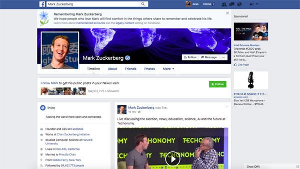 Facebook по ошибке похоронила сотни пользователей Facebook, Марк Цукерберг, Баг, Ошибка