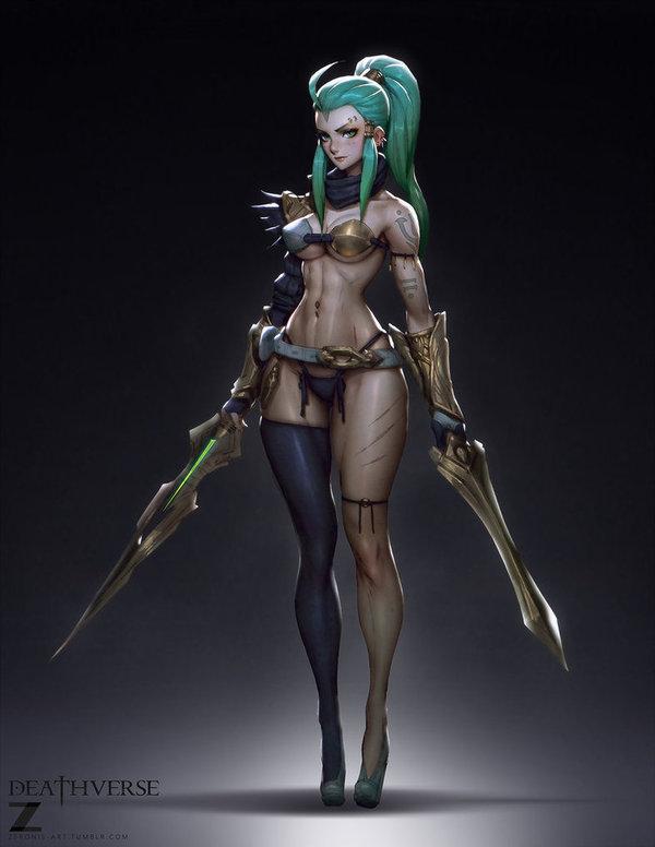 Ventriss Dual Sword Арт, Девушки, Бронелифчик