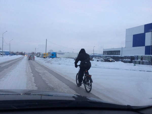 Суровые сибирские мужики, на улице с утра было -30 и ледяной ветер Суровость, Сибирь, Велосипед, Мороз, Отчаянность, Новосибирск