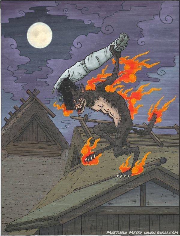 Японские демоны коты