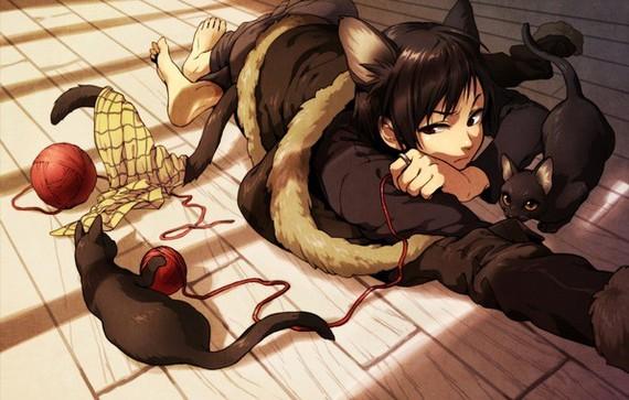 Мифология Японии. Кошки-демоны Япония, Мифология, Легенда, История, Кот, Неко, Гифка, Длиннопост