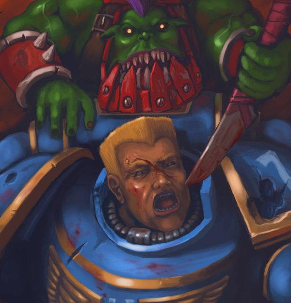 Вам виски косые или прямые? Макияж, Warhammer 40k, Ultramarines, Прическа, Duke Nukem