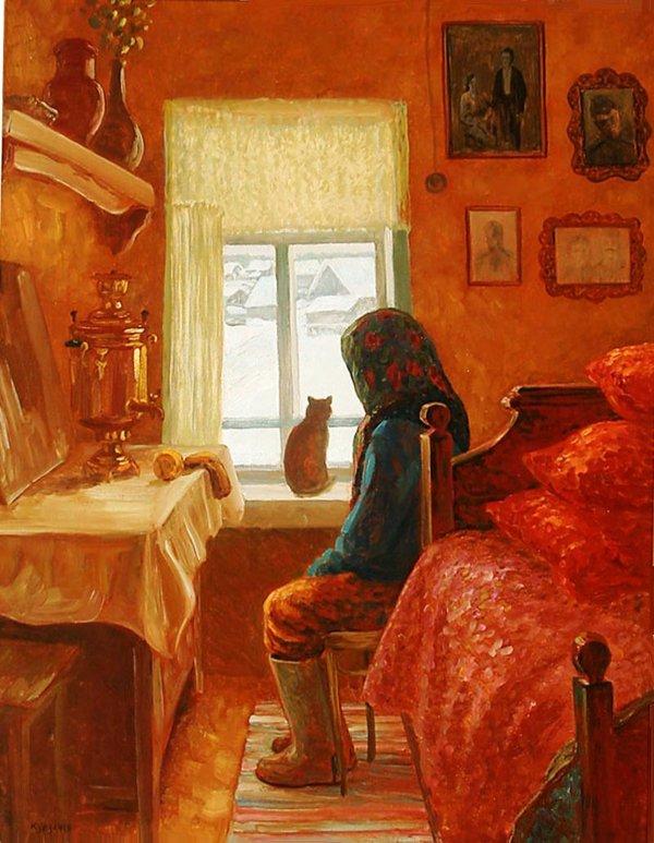 Картинки по запросу картина одинокая бабушка