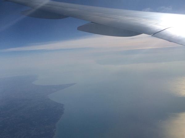 Ла-Манш из иллюминатора. Ла-Манш, Самолет, Фотография, Фото, Франция, Великобритания