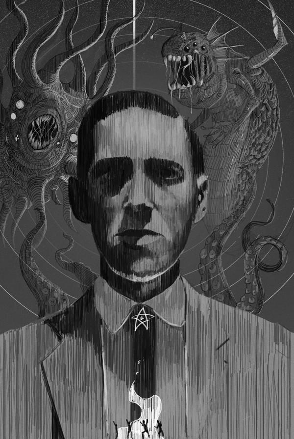 Говард Филипс Лавкрафт арт, Говард Филлипс Лавкрафт, Lovecraft art, рисунок, фантастика, хоррор, научная фантастика, длиннопост