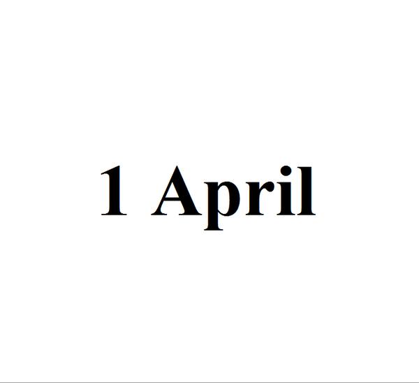 1 апреля Шутка, 1 апреля