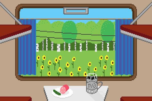 Поездка в поезде
