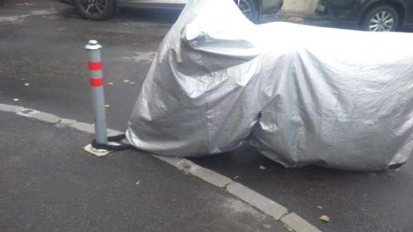Теперь точно не украдут. Мотоциклы, Двор, Москва, Транспорт