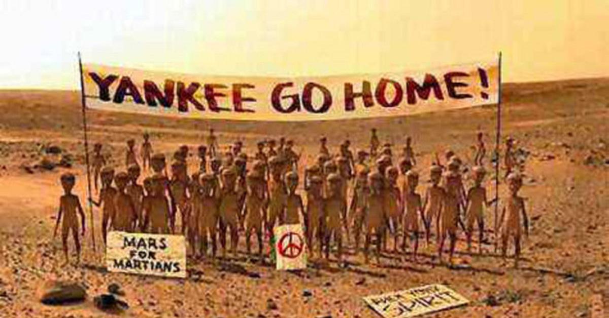 ผลการค้นหารูปภาพสำหรับ yankee go home in mars