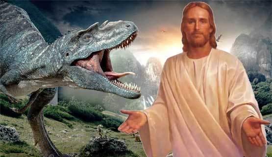 Говорят, Иисус Христос жил во времена динозавров Иисус, динозавры, религия