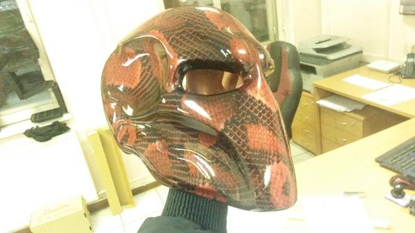 Пятничное!) Маска ручной работы под аквапринтом. маска, покраска, Аквапринт, Иммерсионная печать, MoV22, Фото, длиннопост