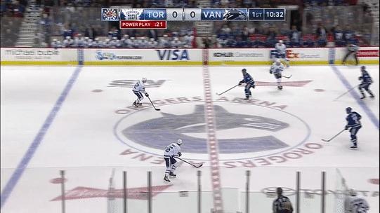 3 игрока «Торонто» одновременно пытаются избежать оффсайда Гифка, Sportsru, Хоккей, Торонто, Офсайд