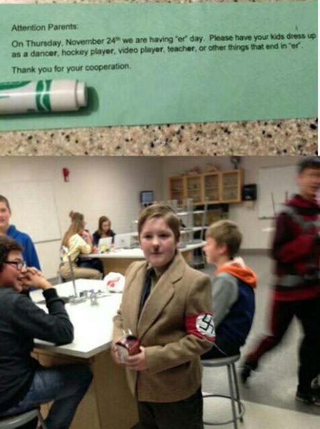 Вниманию родителей Адольф Гитлер, школа, класс, костюм