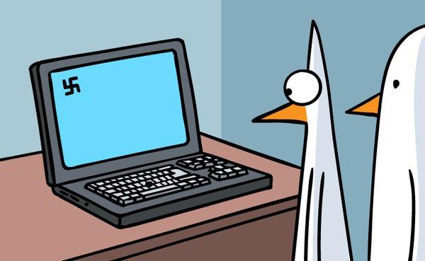 Глубинный смысл (Даже не пробуйте набрать эту комбинацию!) Комиксы, Fredo and Pidjin, Компьютер, Комбинация, Не набирайте эту комбинацию, Гифка, Длиннопост