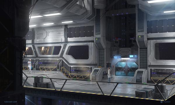Сектор 78 - Лифт Арт, Концепт, Научная фантастика, Sci-Fi
