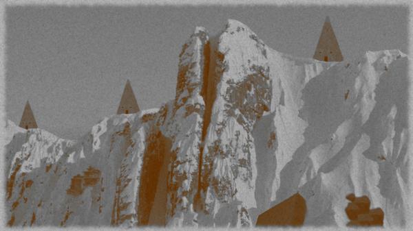 Старое фото Хребтов Безумия. Хребты безумия, Говард Филлипс Лавкрафт, Gimp, Антарктика, Иллюстрации