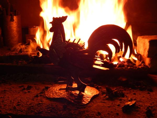 Кованый петух в год огненного петуха! По моему логично) Петух, Новый Год, Пятничный тег моё
