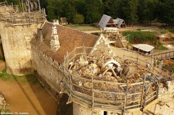 Геделон — средневековый замок во Франции, который строят сейчас World of building, Строительство, Сооружения, Архитектура, Интересное, Познавательно, Франция, Средневековье, Длиннопост