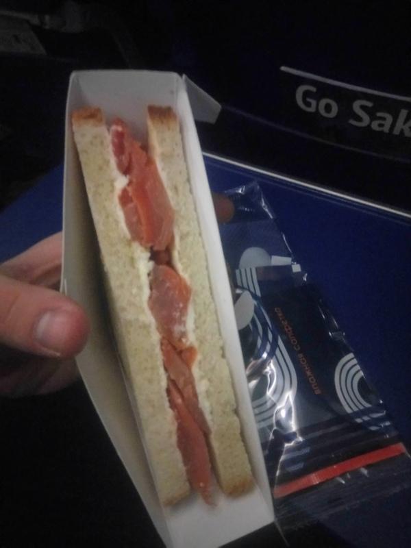 Лёгкая закуска или как кормят в самолёте? Самолет, Аврора, Аэрофлот, Сендвич, Еда, Вкусно, Длиннопост
