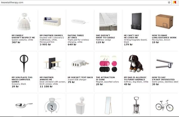 Икея переименовала некоторые свои товары на самые популярные гугл-запросы ИКЕА, Google, Скриншот
