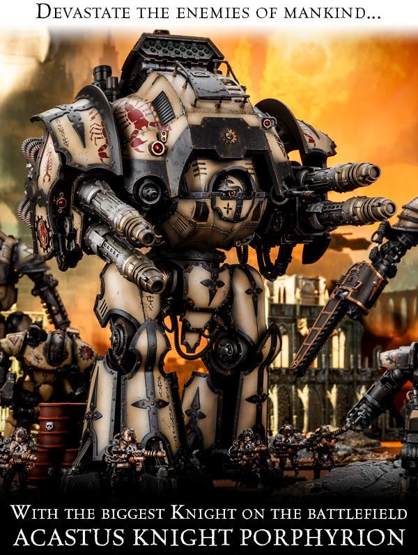 Рыцарь-Акаст модели «Порфирион» Warhammer 40k, Warhammer 30k, Forgeworld, Horus Heresy, Imperial knight, Длиннопост