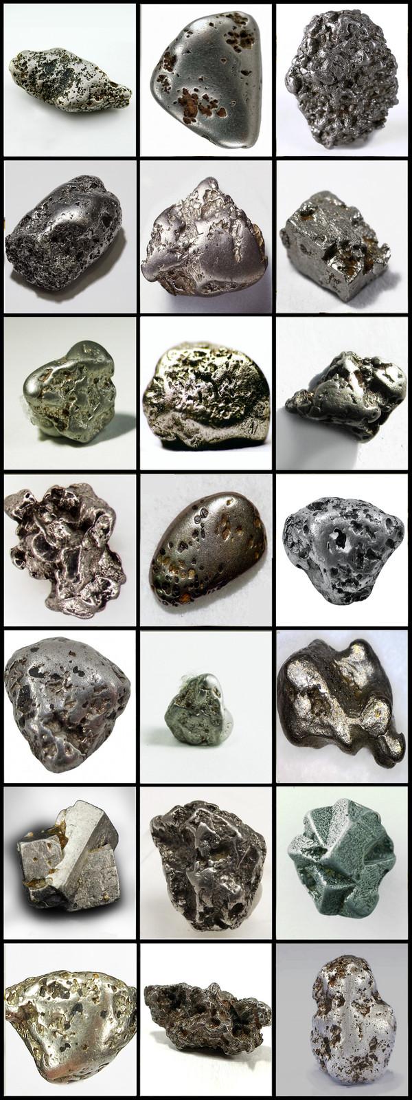 Разнообразные формы платиновых самородков Металл, Платина, Химия, Лига химиков, Самородок, Геология, Длиннопост