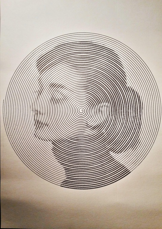 Портрет из одной линии Портрет, Рисование, Линии, Одри Хепберн, Робототехника