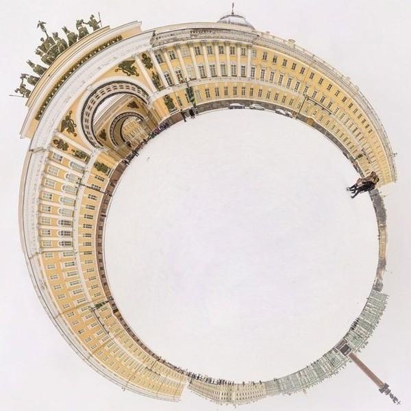 Дворцовая площадь на 360°...