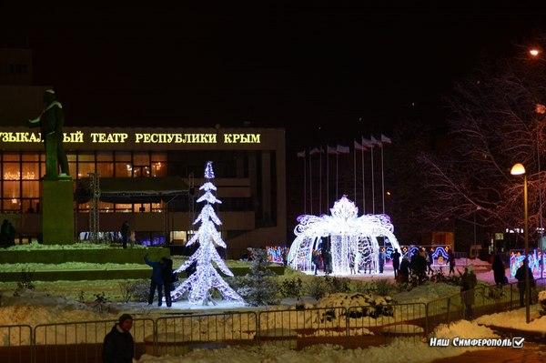 А как украсили Ваш город!? Зима, Новый год, Крым, Симферополь, Ёлка, Крым на пикабу, Длиннопост