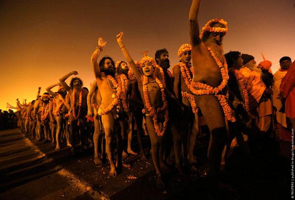Маха Кумбха Мела — уникальный религиозный праздник в Индии Религия, Индия, Фото, Длиннопост