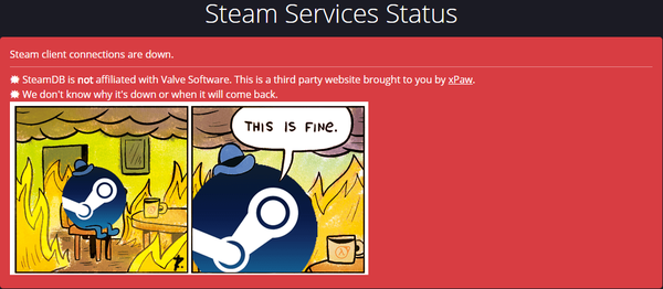 This is fine. Steam, Thisisfine