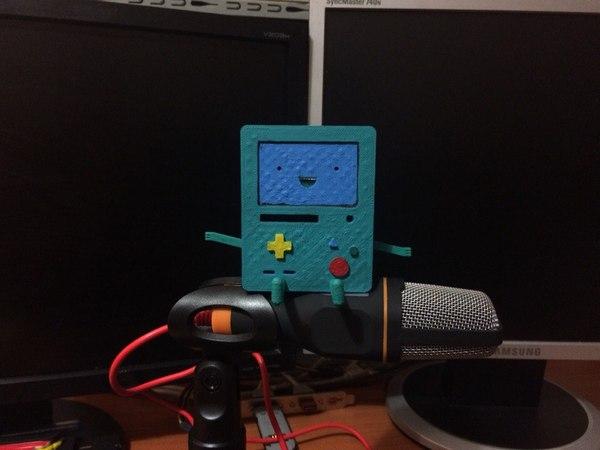 Бимо на 3д принтере, покраска - акрил Adventure time, Приключения, BMO, 3d принтер, 3d печать