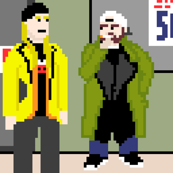 Давным-давно, у фасада далёкого-далёкого магазина... пиксель, арт, Джей и молчаливый Боб, мат