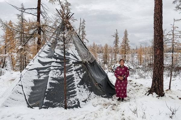 Монгольская семья  оленеводов Азия, народ, кочевники, длиннопост