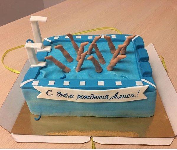 Торт у синхронистки