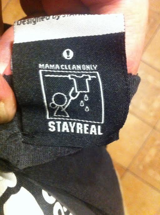 Stay real Футболка, Инструкция, Стирка, Stay true, Текст