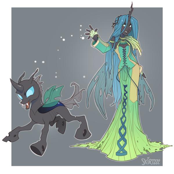 Во славу Роя! My little pony, Queen Chrysalis, Антро
