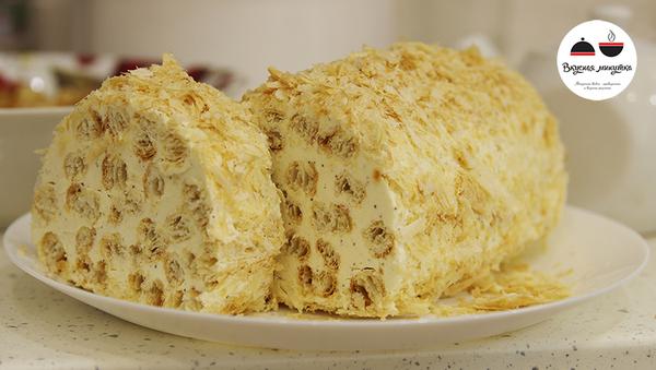 """Простой и вкусный торт """"Полено"""" Еда, Рецепт, Торт, Праздничный стол, Вкусная минутка, Видео, Длиннопост, Трипофобия"""