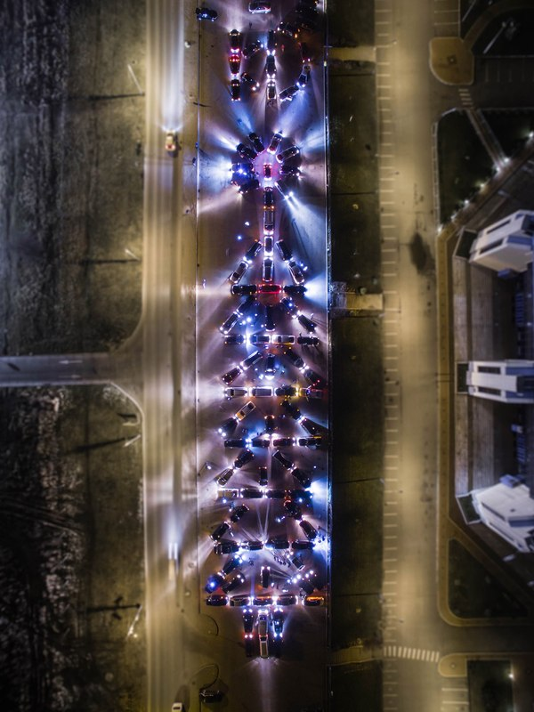Авто-ёлочка по-Калининградски ёлка, авто, флешмоб, Новый Год, Калининград