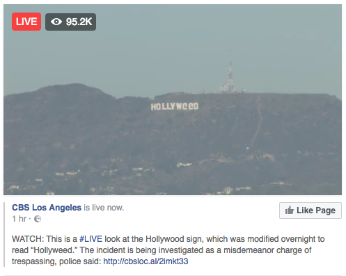 "Кто-то поменял надпись Hollywood на Hollyweed (weed - ""марихуана"") Голливуд, Хулиганы, США"