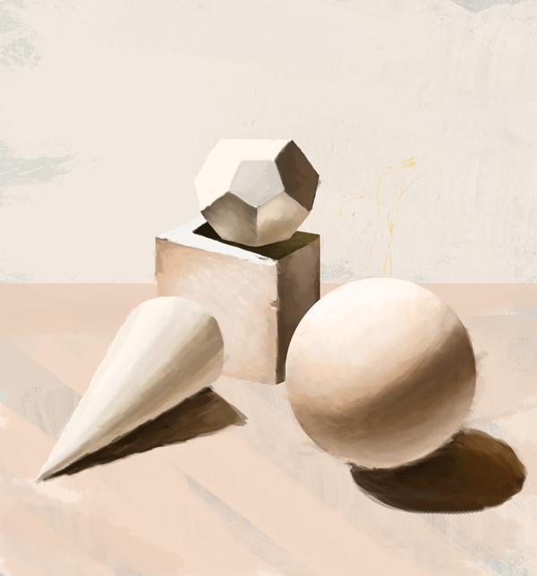 День 1 - Фигуры. Фигуры, построение, компьютерная графика, рисунок, Digital, арт, challenge, Уроки рисования