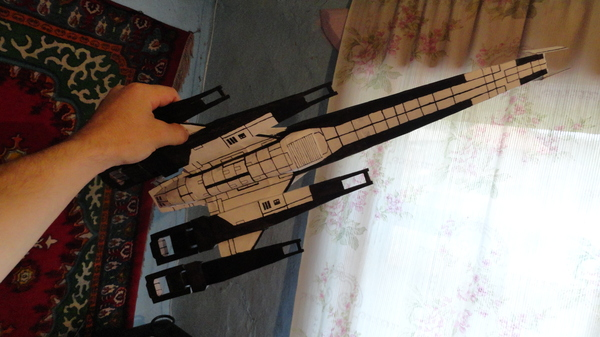 Normandy SR2. моя модель из бумаги Моделизм, Mass effect, Normandy, Длиннопост