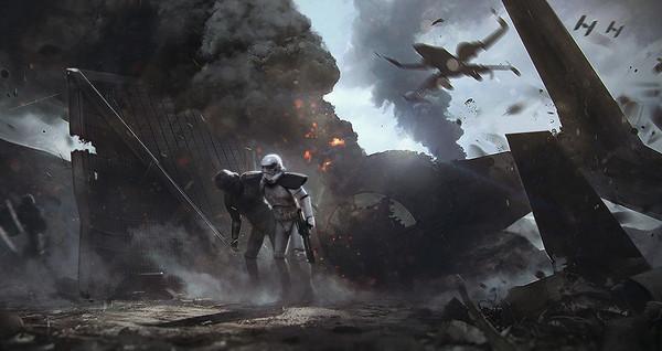 Star Wars Art [ Marek Madej ] Marek Madej, Star wars, Научная фантастика, Арт, Штурмовик, x-Wing