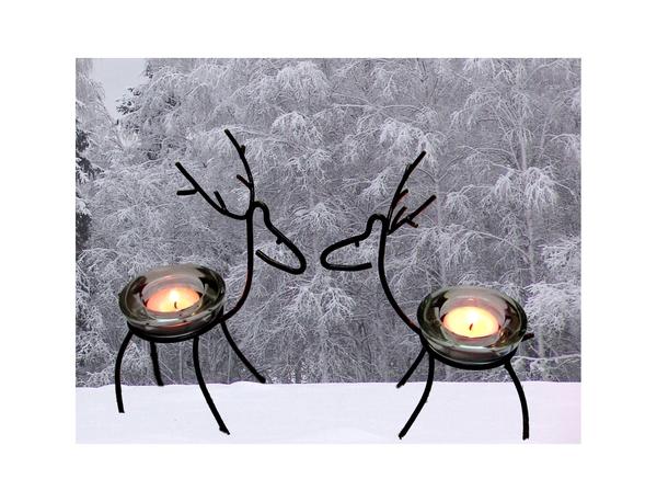 Олени и лоси прямиком из леса) с огоньком! Подсвечник, Макаров и сыновья, олень, лось, ковка, аргон, ручная работа, длиннопост