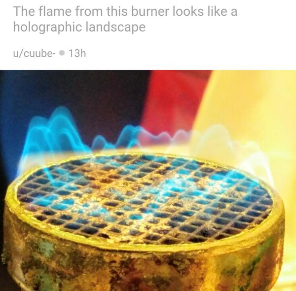 Пламя этой горелки выглядит как голограмма рельефа