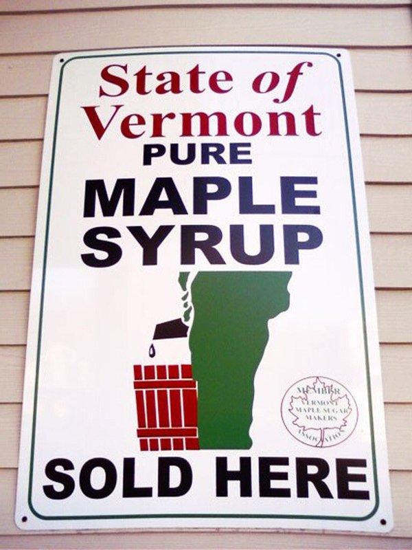 Вермонтский логотип кленового сиропа определённо сбивает с толку логотип, кленовый сироп, штат Вермонт